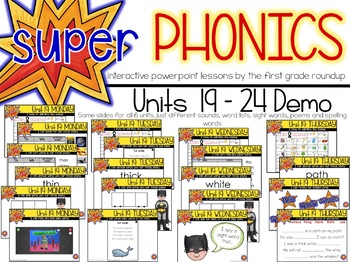 Phonics First Grade Digital Curriculum Unit 19 on th and wh
