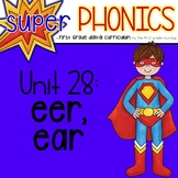 Phonics First Grade Digital Curriculum Unit 28 on EER and EAR