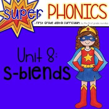 Phonics First Grade Digital Curriculum Unit 8 on s blends