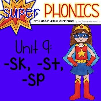 Phonics First Grade Digital Curriculum Unit 9 on ending s blends