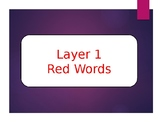Phonics First Layer 1 Red Words Powerpoint