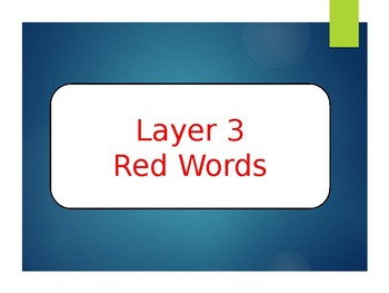 Phonics First Layer 3 Red Words Powerpoint