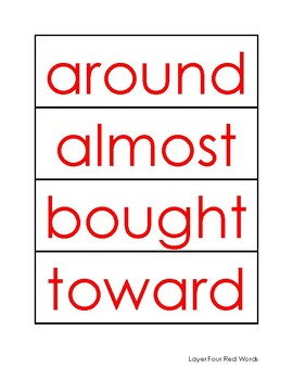 Phonics First: Layer Four Red Words Card Pack