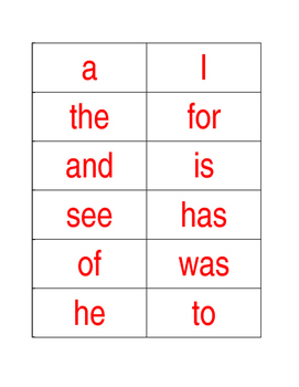Phonics First Layer One Red Words