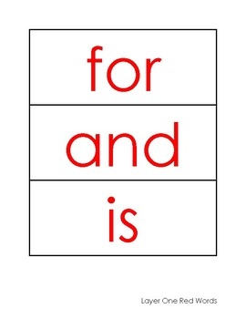 Phonics First: Layer One Red Words Card Pack