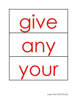Phonics First: Layer Two Red Words Card Pack