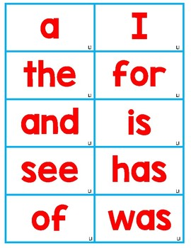 Phonics First Red Word Cards