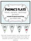 Phonics Flags- blends, digraphs, diphthongs and more!
