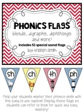 Phonics Flags- blends, digraphs, diphthongs and more! {Primary Colors}