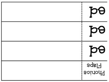 Phonics Flaps- Inflectional Ending -ed (PAST TENSE)