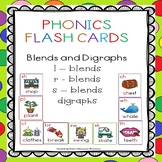 Phonics Flash Cards - Blends and Digraphs