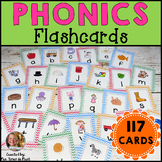 Phonics Flashcards (Chevron Theme)