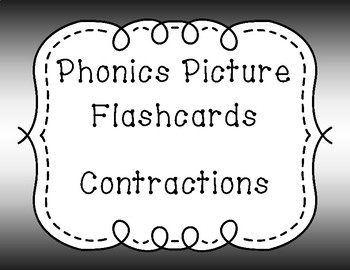 Phonics Flash Cards - Contractions