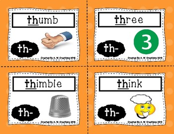 Phonics Flash Cards - Digraphs and Silent Letters