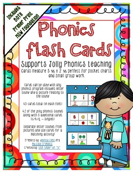 Phonics Flash Cards for Pocket Charts or Small Group