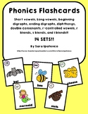 Phonics Flashcards BIG Bundle: 14 Sets