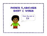 Phonics Flashcards Short e Words