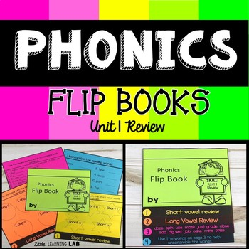 Phonics Flip Book- Short and Long vowel review, blends FREEBIE