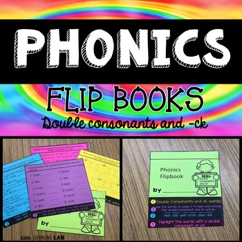 Double Consonants and -ck | Phonics Flip Book | Double Consonants Rule