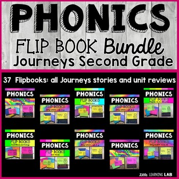 Journeys 2nd Grade Phonics Flip Book Bundle