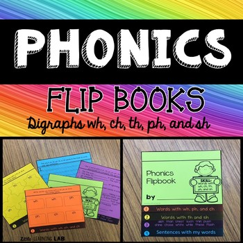 Consonant Digraphs sh, th, ph, wh, ch   Journeys Super Storms Flip Book