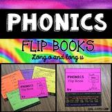 Long vowels O and U Phonics Flip Book