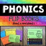 Short vowels A and I Phonics Flip Book