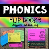 Suffixes ed and ing Phonics Flip Book