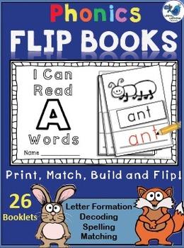 Phonics Flip Books - Alphabet (26 booklets) Whimsy Workshop Teaching