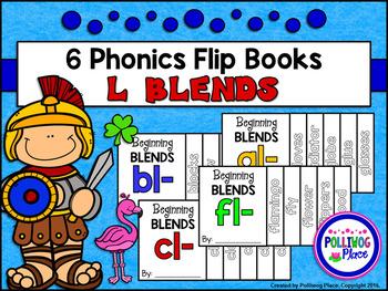 Phonics Flip Books - Beginning L Blends