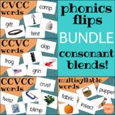 Phonics Flips Flash Cards - Consonant Blends Words Bundle