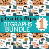 Phonics Flips Flash Cards - Digraphs Bundle 1