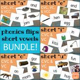 Phonics Flips Flash Cards - Short Vowel Bundle