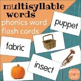 Phonics Flips - Multisyllable Word Flash Cards