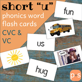 "Phonics Flips - Short ""u"" Flash Cards"