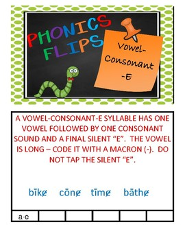Phonics Flips - Vowel-Consonant-E