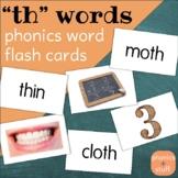 "Phonics Flips - ""th"" Flash Cards"