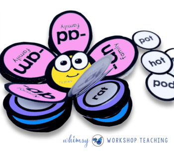 Phonics Flowers Interactive Booklets (70 Word Families) Whimsy Workshop Teaching
