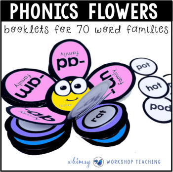 Phonics Flowers Interactive Booklets (70 Word Families) Wh