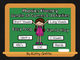 Phonics Fluency Card Games and Activities Bundle