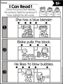 Phonics Fluency Check (Blends)