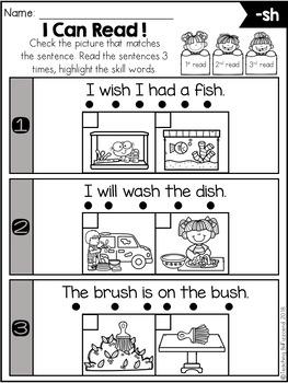 Phonics Fluency Check (Digraphs)