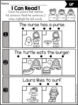 Phonics Fluency Check (R-Controlled Vowels)