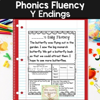 Phonics Fluency Passages: Daily Fluency: Y Ending Sounds 2 Week Sample
