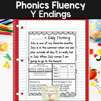 Reading Fluency Passages: Phonics Y Ending Sounds 2 Week Sample