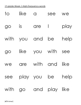 Phonics Fluency Fun-Journeys 1st Gr. Lesson 1--Spelling and H.F.Word Activities
