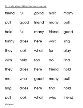 Phonics Fluency Fun-Journeys 1st Gr. Lesson 5--Spelling and H.F.Word Activities