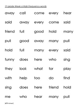 Phonics Fluency Fun-Journeys 1st Gr. Lesson 6--Spelling and H.F.Word Activities