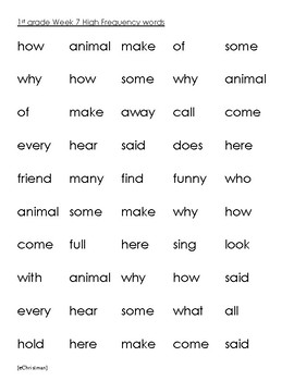 Phonics Fluency Fun-Journeys 1st Gr. Lesson 7--Spelling and H.F.Word Activities