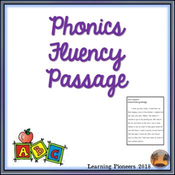Phonics Fluency Passage - Long e, o, and u cvce words
